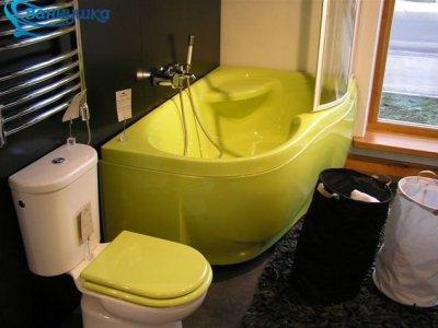 ванна акриловая желтая