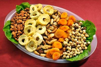 Диета на основе орехов и сухофруктов