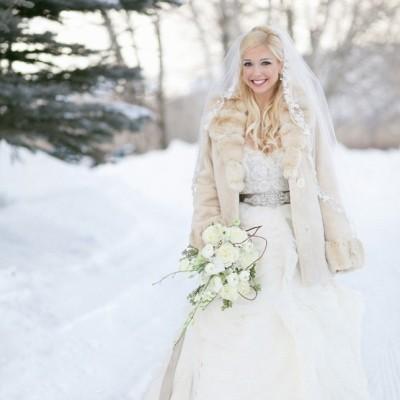 шубка к свадебному платью