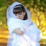 Свадебный палантин - меховой, своими руками, крючком, вязаный