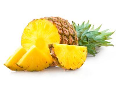 ананас - расщепляет жиры, улучшает пищеварение,