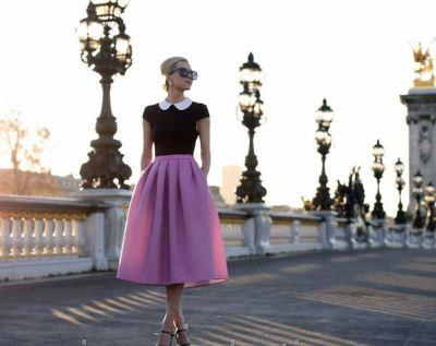 розовая юбка-солнце
