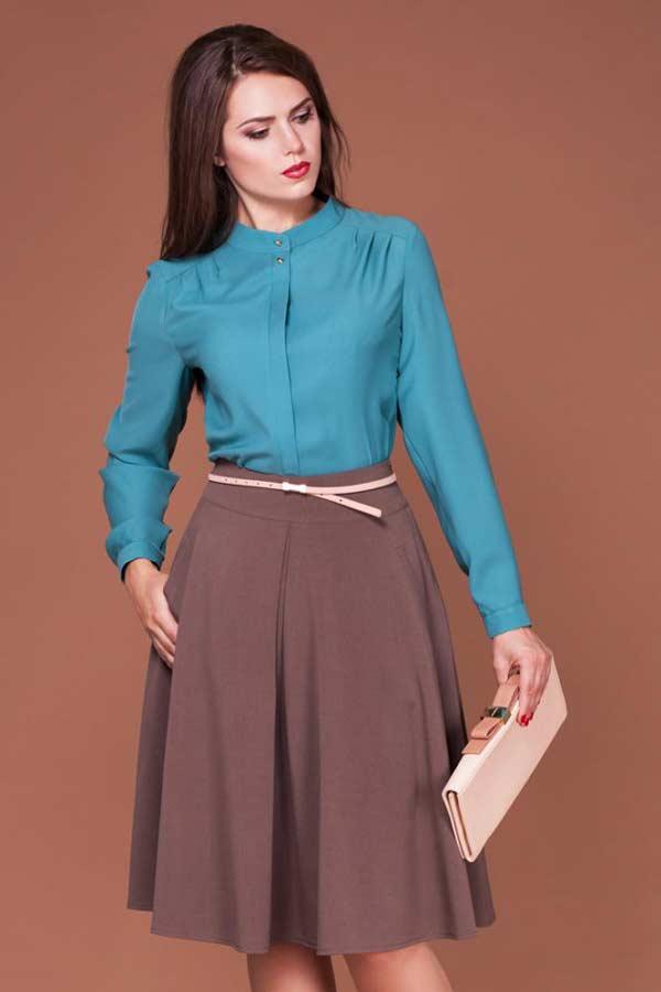 Классическая юбка-полусолнце со складками