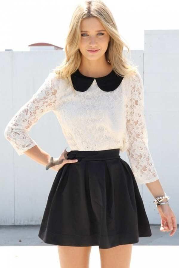 Юной девушке подойдет юбка мини с бантовыми складками