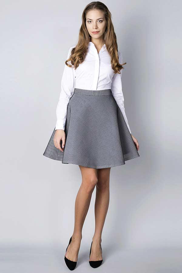 Трикотажная юбка с рубашкой