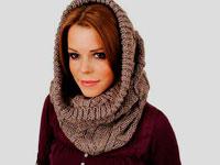 Как носить шарф-хомут