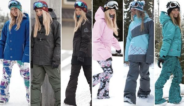 Женские костюмы для зимнего активного отдыха