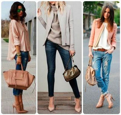 Сочетание с джинсами