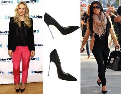 Сочетание с черными туфлями