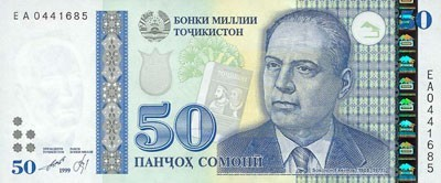 Местная валюта в Таджикистане - сомони