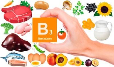 Продукты, содержащие витамин В3