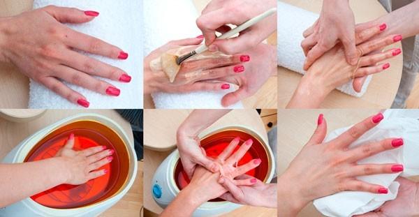 Процедура парафинотерапии для ногтей