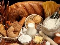 крупы, хлеб, выпечка