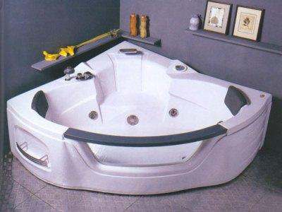 двухместная угловая акриловая ванна