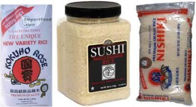 виды риса для приготовления суши