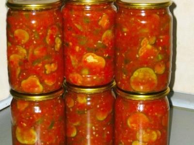 огурцы маринованные в томатном соусе