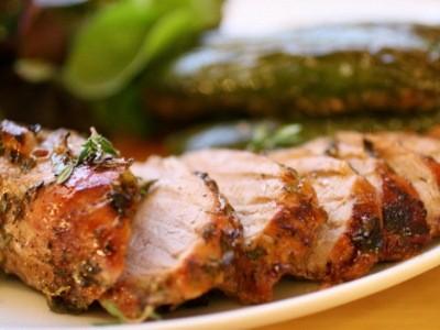 свинина с тимьяном и маринованным имбирем