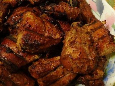 свинина с медом и маринованным корнем имбиря