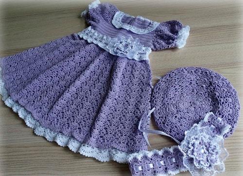 Одежка, вязанная крючком (платье)
