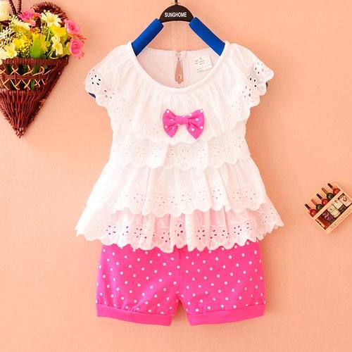 Летняя одежда для новорожденных девочек