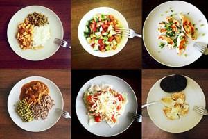 Рецепт Овсянка ( средняя порция ). Калорийность, химический состав и пищевая ценность.