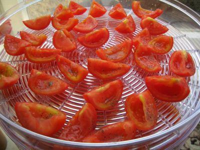 вяление томатов в электросушилке