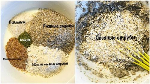 Заготовка на овсяноблин с отрубями