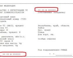 Реквизиты регистрационного свидетельства