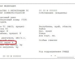 Должны быть указаны реквизиты паспорта автомобиля