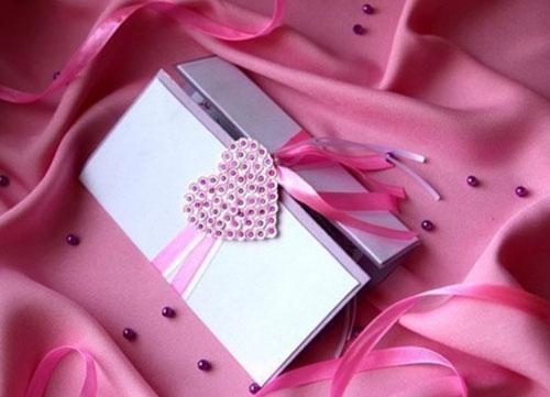 Пример валентинки, сделанной своими руками