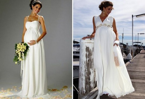 Свадебные платья в греческом стиле для беременных