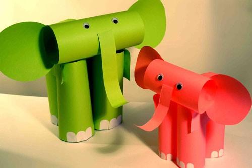 Слоники из бумаги