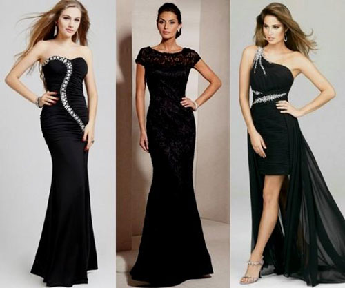 Черное платье для гостя