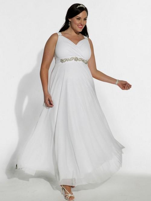 Свадебное платье в греческом стиле для полных девушек
