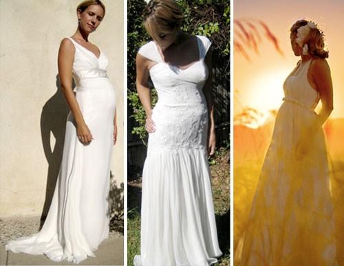 Длинные свадебные платья для беременных