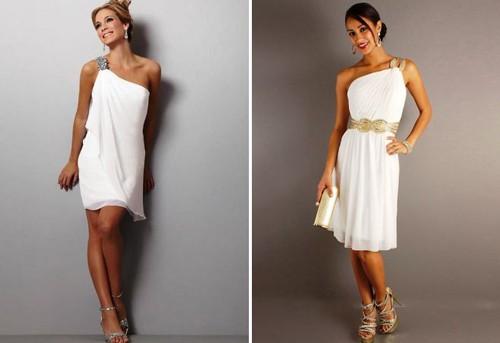 Короткие свадебные платья в греческом стиле