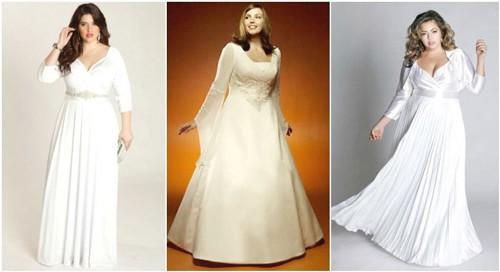 Свадебное платье с рукавами для полных девушек