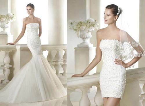 Свадебное платье-трансформер в форме русалки