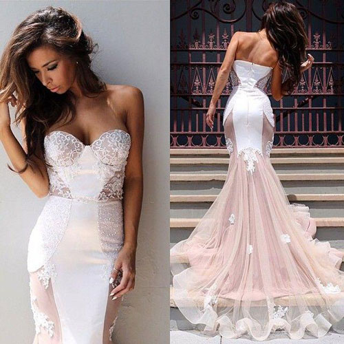 Платье для невесты в форме рыбки