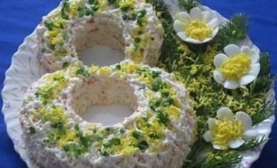 пример оформления салата