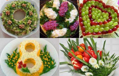 пример оформления салатов