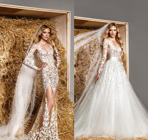 Свадебное платье с накладной пышной юбкой