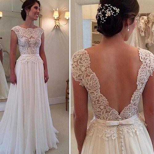 Свадебное платье с кружевном верхом