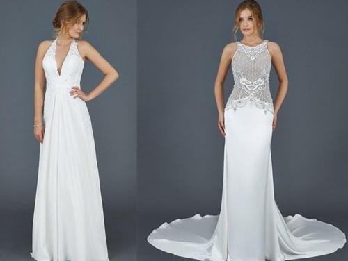 Прямые свадебные платья в пол