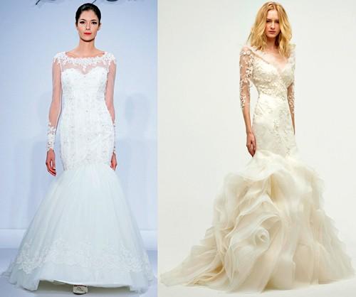 Длинные рукава на свадебном платье