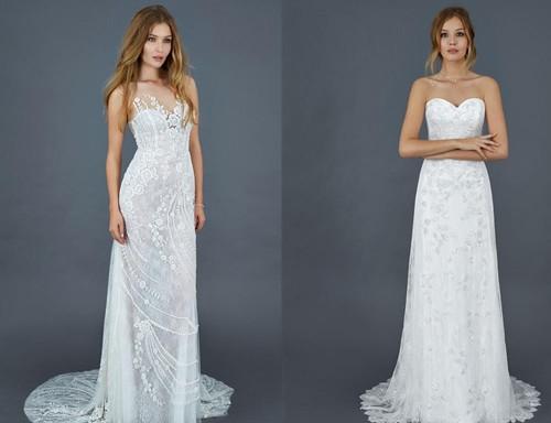 Свадебные платья в пол с кружевами