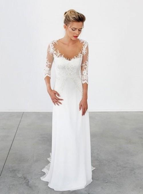Кружевные рукава на свадебном платье