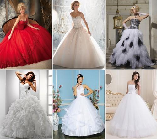Модные новинки среди пышных свадебных платьев