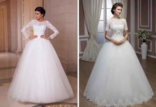 Рукава на пышном свадебном платье