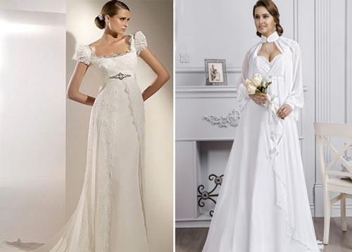 Свадебные платья Ампир с рукавами